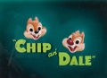 Animation Art:Production Cel, Chip and Dale Title Cel and Painted Production Background (Walt Disney, c. 1940s-50s)....