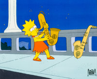 The Simpsons Lisa Simpson Production Cel (Fox, 1990)