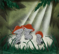 Animation Art:Production Cel, Fantasia Mushroom Dancers Courvoisier Multi-Plane Setup (Walt Disney, 1940)....