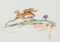 Animation Art:Production Drawing, Wile E. Coyote and The Road Runner Illustration by Chuck Jones Original Art (Warner Brothers, c. 1990s)....