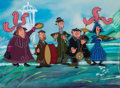 Animation Art:Production Cel, Mary Poppins Pearly Band Production Cel with Painted Background (Walt Disney, 1964)....