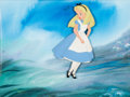 Animation Art:Production Cel, Alice in Wonderland Production Cel with Painted Background (Walt Disney, 1951)....
