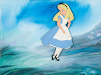 Alice in Wonderland Production Cel with Painted Background (Walt Disney, 1951)