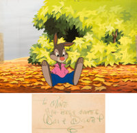 Song of the South Production Cel and Production/Pre-Production Master Background with Walt Disney Signature (Walt Disn...