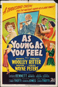 "Movie Posters:Comedy, As Young As You Feel & Other Lot (20th Century Fox, 1951). Folded, Overall: Fine. One Sheets (2) (27"" X 41""), Insert (14"" X ... (Total: 7 Items)"