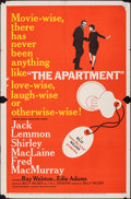 "Movie Posters:Comedy, The Apartment (United Artists, 1960). Folded, Fine. One Sheet (27"" X 41""). Comedy.. ..."