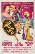 """Movie Posters:Musical, Lovely to Look At (MGM, 1952). Folded, Fine/Very Fine. One Sheet (27"""" X 41""""). Musical.. ..."""