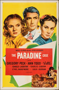 """Movie Posters:Hitchcock, The Paradine Case (Selznick, 1948). Folded, Fine/Very Fine. One Sheet (27"""" X 41""""). Hitchcock.. ..."""