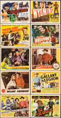 """Movie Posters:Western, Hidden Valley Outlaws & Other Lot (Republic, 1944). Very Fine. Title Lobby Cards (7) & Lobby Cards (3) (11"""" X 14""""). W..."""