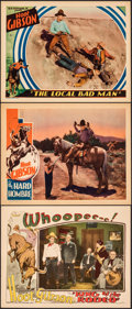 """Movie Posters:Western, King of the Rodeo & Other Lot (Universal, 1929). Very Fine. Lobby Cards (3) (11"""" X 14""""). Western.. ... (Total: 3 It..."""