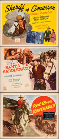 """Movie Posters:Western, Red River Renegades & Other Lot (Republic, 1946). Overall: Very Fine. Title Lobby Cards (3) (11"""" X 14""""). Western.. ... (Total: 3 Items)"""