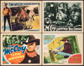 """Movie Posters:Western, Texas Renegades & Other Lot (PRC, 1940). Overall: Very Fine-. Title Lobby Card & Lobby Cards (3) (11"""" X 14""""). Western.. ... (Total: 4 Items)"""