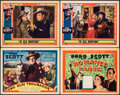 """Movie Posters:Western, Two Gun Troubador & Other Lot (Spectrum, 1939). Overall: Very Fine-. Title Lobby Cards (2) & Lobby Cards (2) (11"""" X 14""""). We... (Total: 4 Items)"""