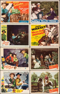 "Movie Posters:Western, Wild Country & Other Lot (PRC, 1947). Very Fine-. Autographed Lobby Card, Title Lobby Cards (2), & Lobby Cards (5) (11"" X 14... (Total: 8 Items)"