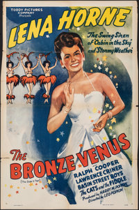 """The Bronze Venus (Toddy Pictures, R-1941). Folded, Fine/Very Fine. One Sheet (27"""" X 41"""") & Lobby Card..."""
