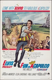 """Fun in Acapulco (Paramount, 1963). Folded, Overall: Very Fine. One Sheet (27"""" X 41"""") & Lobby Card (11&..."""