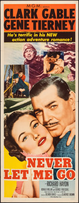 """Never Let Me Go (MGM, 1953). Folded, Fine/Very Fine. Insert (14"""" X 36""""). Adventure"""