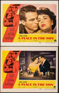 """Movie Posters:Drama, A Place in the Sun (Paramount, 1951). Fine/Very Fine on Paper & Unbacked. Lobby Cards (2) (11"""" X 14""""). Drama.. ... (Total: 2 Items)"""
