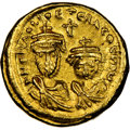 Ancients:Byzantine, Heraclius (AD 610-641) and Heraclius Constantine. AV solid...