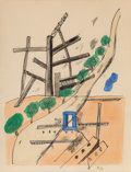 Prints & Multiples, Fernand Léger (1881-1955). Untitled, late 20th century. Lithograph in colors on paper. 12 x 9 inches (30.5 x 22.9 cm) (s...