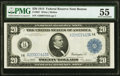 Large Size:Federal Reserve Notes, Fr. 967 $20 1914 Federal Reserve Note PMG About Uncirculated 55.. ...
