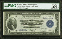 Fr. 734 $1 1918 Federal Reserve Bank Note PMG Choice About Unc 58 EPQ