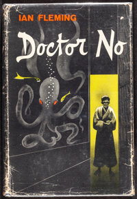 """Dr. No (Macmillan, 1958). Fine+. First Edition U.S. Hardcover Book (256 Pages, 5.75"""" X 8.5"""") H. Lawrence Hoffm..."""