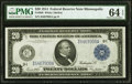Large Size:Federal Reserve Notes, Fr. 999 $20 1914 Federal Reserve Note PMG Choice Uncirculated 64 EPQ.. ...
