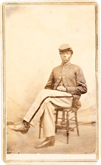 Carte de Visite of an Unidentified Black Soldier