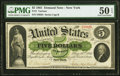 Fr. 1 $5 1861 Demand Note PMG About Uncirculated 50 EPQ