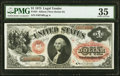 Large Size:Legal Tender Notes, Fr. 24 $1 1875 Legal Tender Series D PMG Choice Very Fine 35.. ...