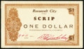 Obsoletes By State:Utah, Roosevelt City, UT- Roosevelt City Scrip $1 1933 Extremely Fine.. ...