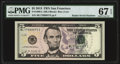 Radar 77999977 Fr. 1996-L $5 2013 Federal Reserve Note. PMG Superb Gem Unc 67 EPQ