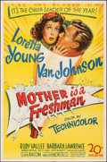 """Movie Posters:Comedy, Mother is a Freshman (20th Century Fox, 1949). Folded, Very Fine-. One Sheet (27"""" X 41""""). Comedy.. ..."""