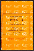 Movie Posters:War, Room 39 by Donald McLachlan (Weidenfeld and Nicolson, 1968). Fine+. Uncorrected British Proof Paperback Book (424 Pages, 5.5...