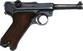 Handguns:Semiautomatic Pistol, German byf P.08 Luger Semi-Automatic Pistol with Leather Holster.. ...