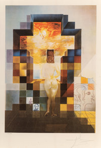 Salvador Dalí (1904-1989) Lincoln in Dalivision, 1977 Photolithograph with embossing in colors on Ar