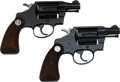 Handguns:Double Action Revolver, Lot of Two Colt Double Action Revolvers.. ... (Total: 2 Items)