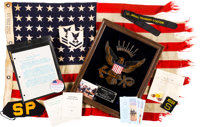 """Normandy Invasion Flag Flown Aboard Mine Sweeper """"YMS-348"""""""