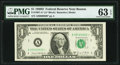 Small Size:Federal Reserve Notes, Low Serial 00000800* Fr. 1907-A* $1 1969D Federal Reserve Star Note. PMG Choice Uncirculated 63 EPQ.. ...