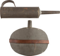 Civil War Period or Late 19th Century U.S. Hospital Department Canteen and Funnel