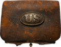 Military & Patriotic:Civil War, Leather Cartridge Box by Pittsburgh Maker. . ...