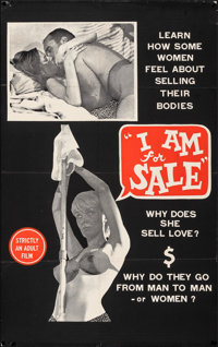 """I Am for Sale & Other Lot (J.E.R. Pictures, 1968). Folded, Overall: Fine/Very Fine. One Sheets (2) (27"""" X 4..."""