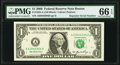 Small Size:Federal Reserve Notes, Repeater 63046304 Fr. 1932-A $1 2006 Federal Reserve Note. PMG Gem Uncirculated 66 EPQ.. ...