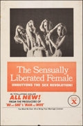 """Movie Posters:Adult, The Sensually Liberated Female (Aquarius Releasing, 1970). Folded, Fine+. One Sheet (25"""" X 38""""). Adult.. ..."""