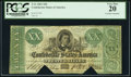 Confederate Notes:1861 Issues, T21 $20 1861 PF-3 Cr. 145 PCGS Very Fine 20, COC.. ...