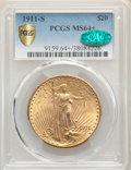 Saint-Gaudens Double Eagles, 1911-S $20 MS64+ PCGS. CAC....