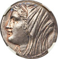 Ancients:Greek, Ancients: SICILY. Syracuse. Philistis, wife of Hieron II (275-215 BC). AR 16-litrae (26mm, 13.56 gm, 7h). NGC Choice AU 5/5 - 5/5, Fine ...