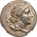 Ancients:Greek, Ancients: IONIA. Magnesia ad Meandrum. Ca. mid-2nd century BC. AR tetradrachm (31mm, 16.90 gm, 12h). NGC Choice AU★ 5/5 - 5/5....