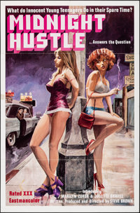 """Midnight Hustle & Other Lot (Dynamite Films, 1977). Folded, Overall: Fine+. One Sheets (2) (27"""" X 41"""")..."""
